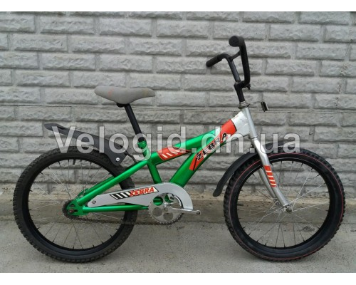 Детский велосипед  Zebra 20 Зеленый Б/у