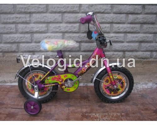 """Детский велосипед Маша и медведь 12"""""""