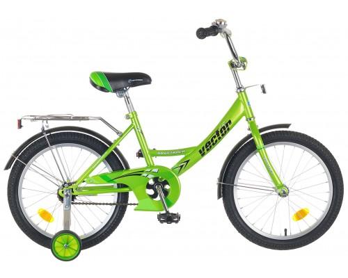 """Детский велосипед Novatrack Vector 18"""" Зеленый"""