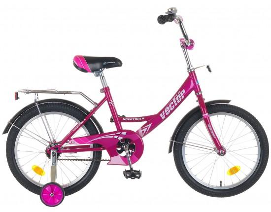 """Детский велосипед Novatrack Vector 18"""" Сиреневый"""