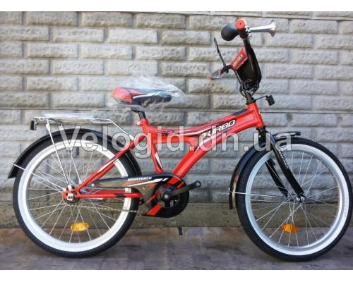 Детский велосипед Novatrack Turbo 20 красный